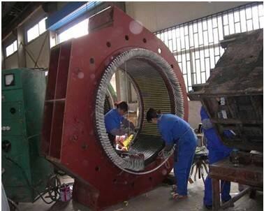 2500kw-12极高压电机大修